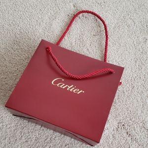 CARTIER logo shopping bag